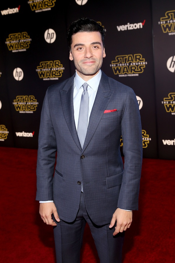 HOLLYWOOD, CA - DECEMBER 14:  Actor Oscar Isaac attends the World Premiere of ?Star Wars: The Force Awakens? at the Dolby, El Capitan, and TCL Theatres on December 14, 2015 in Hollywood, California.  (Photo by Jesse Grant/Getty Images for Disney) *** Local Caption *** Oscar Isaac